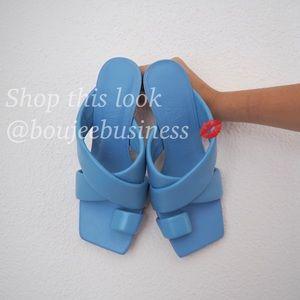 ZARA Padded Heeled Soft Leather Sandals